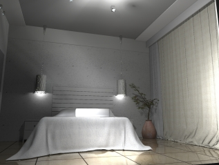 Project: Hotel Room, Minimalistic Interior Design